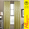 Low MOQ customized color classic jacquard readymade curtain