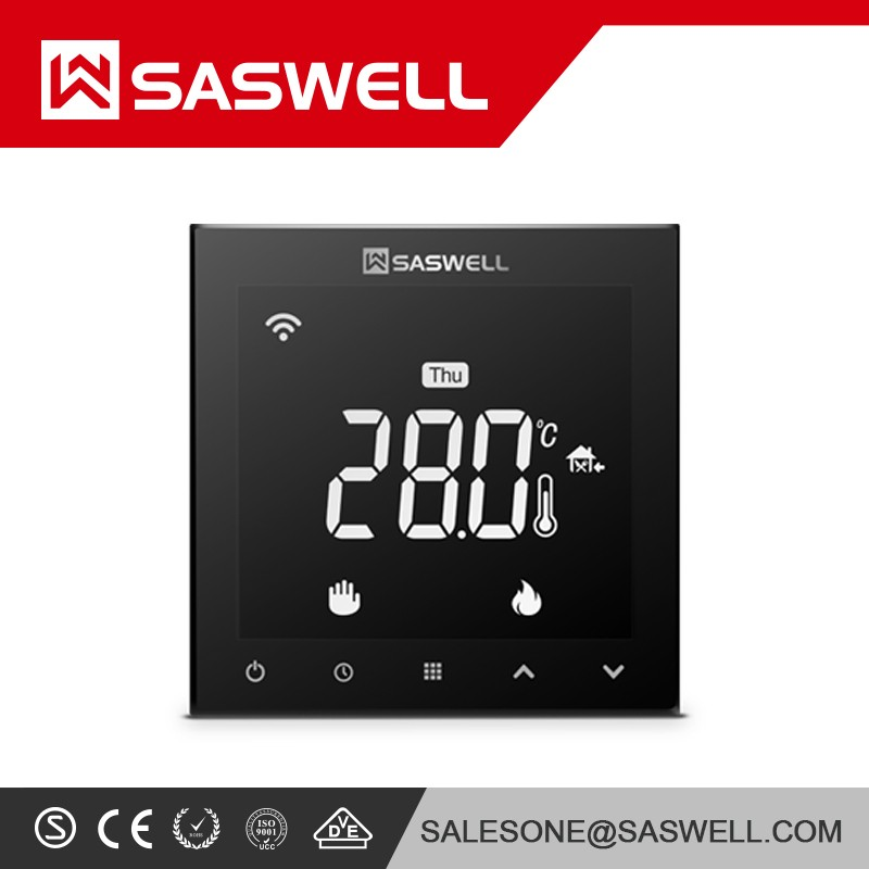 NEW FACTORY PRICE 922WHL Prices of china new wafer electronic thermostat water floor heating from saswell