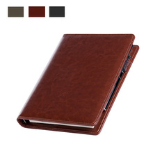 Kaj A5 business office stationery with loose leaf notebook laptop learning diary premium leather can be customized