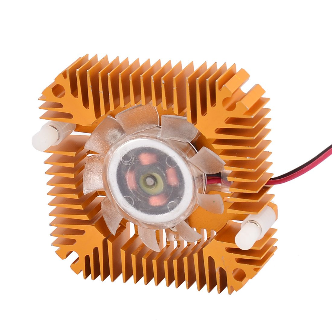 uxcell Copper Plated 55mm 2 Terminal VGA Video Card Heatsink Cooling Fan
