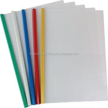 Fashion Custom Office Stationery Clear Plastic Folder