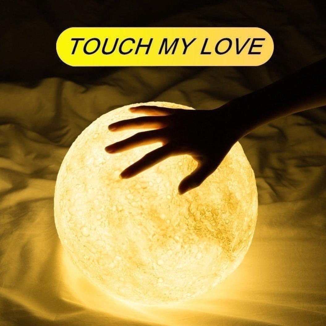 Rumas 2018 3D USB LED Magical Moon Night Light Moonlight Table Desk Moon Lamp Gift (8cm)