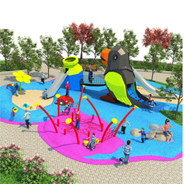 Large Children Outdoor Individuation Crow Drinks Water Theme Playground Park