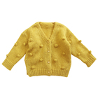 7507/factory direct sale winter best quality Cotton knit coat for baby girl