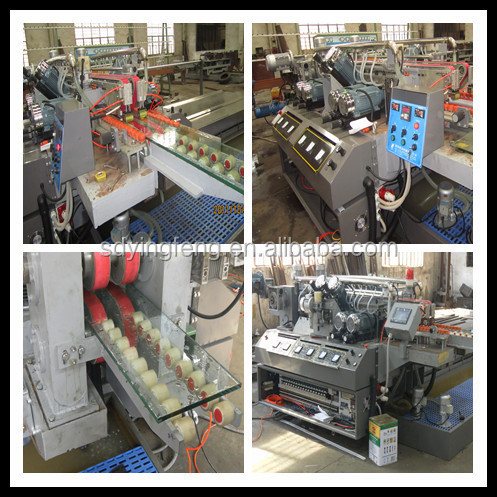 JFD-2025 2500mm size glass Straight Line double edge processing machine for sale
