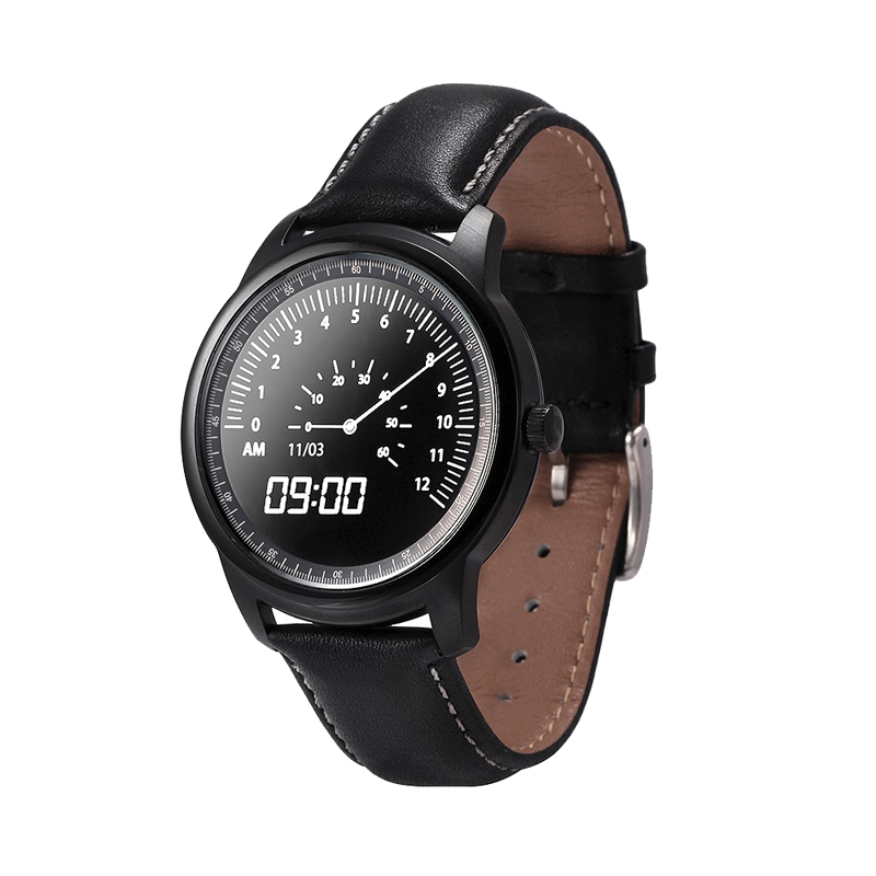 2017 New style digital leather smart watch bluetooth phone call reminder wrist watches waterproof support android and ios phone