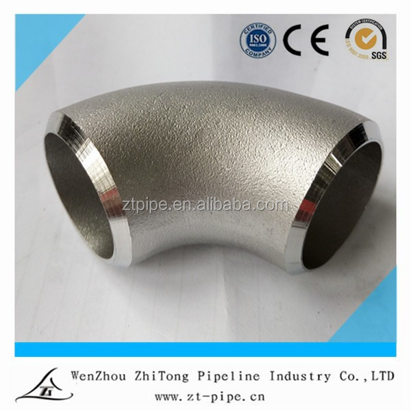 ISO9001 & CE factory,wenzhou China stainless steel 90 degree bend pipe