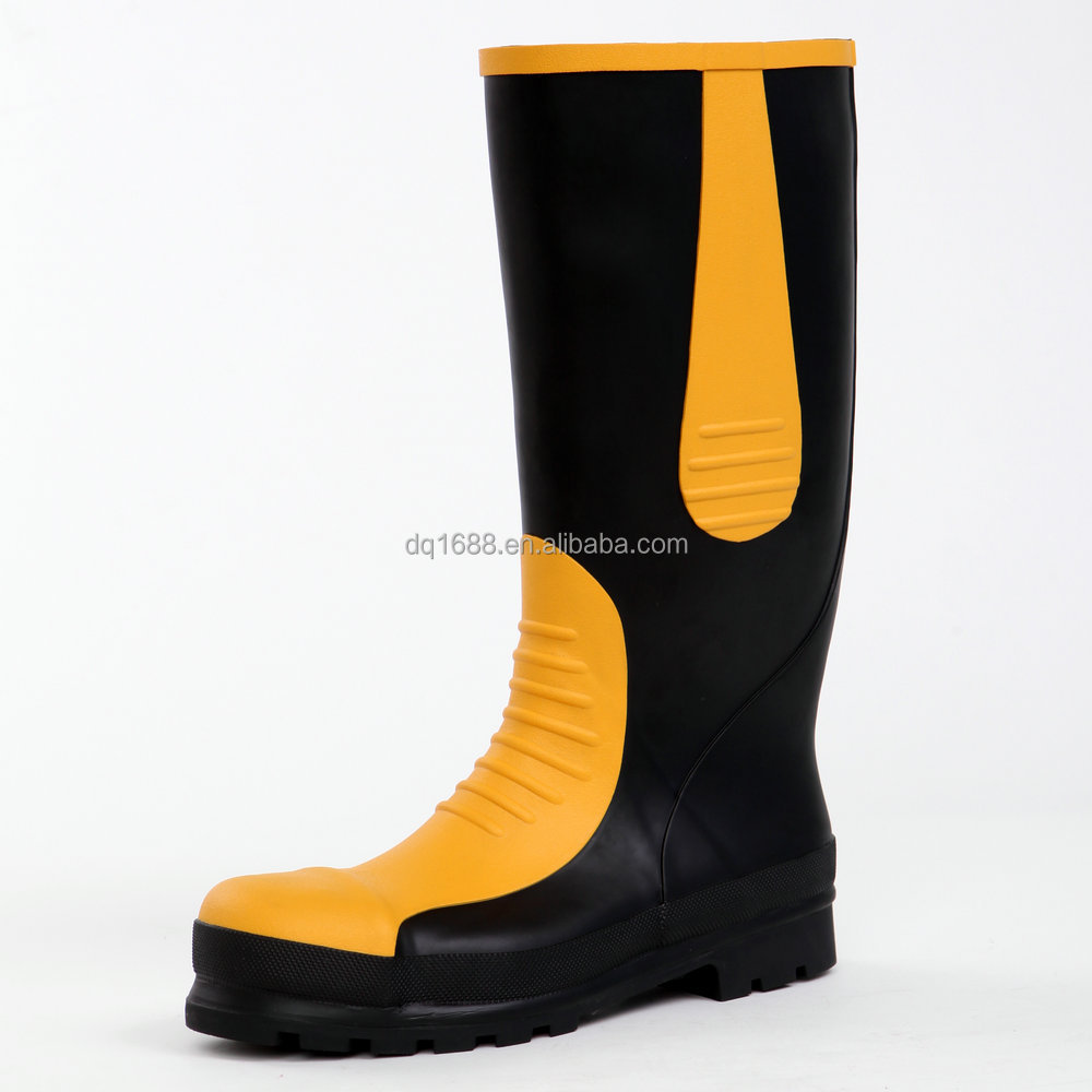 Mans YELLOW EN 20345 S5 SAFETY RUBBER BOOTS