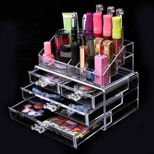 Acrylic Cosmetic Storage Display Boxes, Wholesales cosmetic organizer with drawers,hot sales acrylic makeup organizer