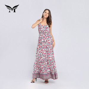 Latest design casual fashion ruffles ladies summer dresses online