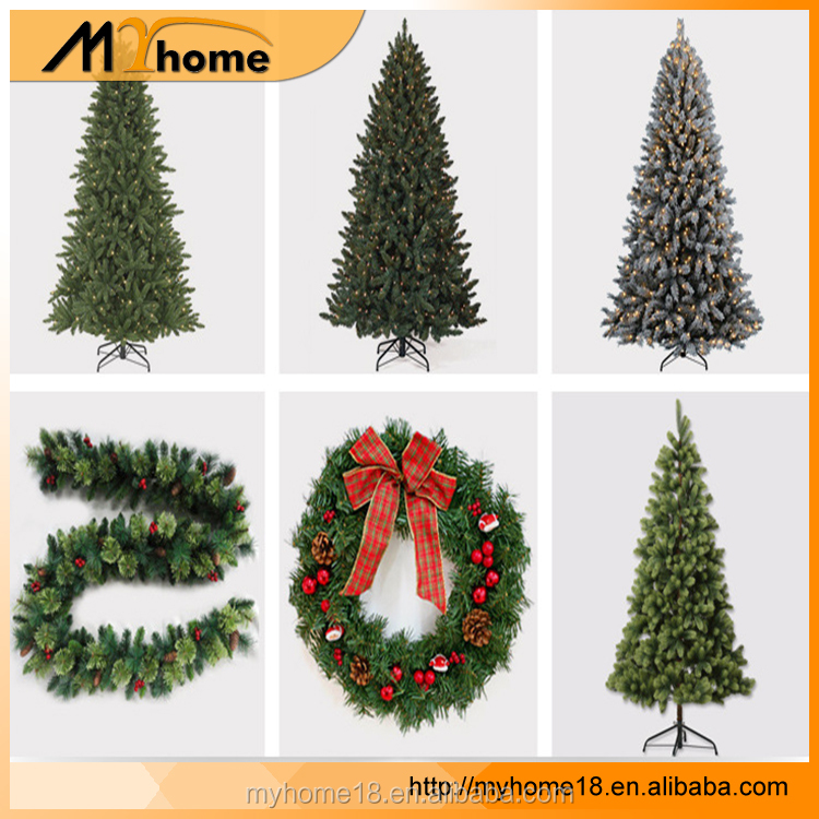 Factory outlet Artificial Handmade PVC christmas tree christmas ornament, high qality christmas tree decoration 2017