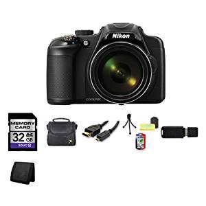Nikon COOLPIX P600 16.1 MP Wi-Fi CMOS Digital Camera (Black) 32GB Bundle 2