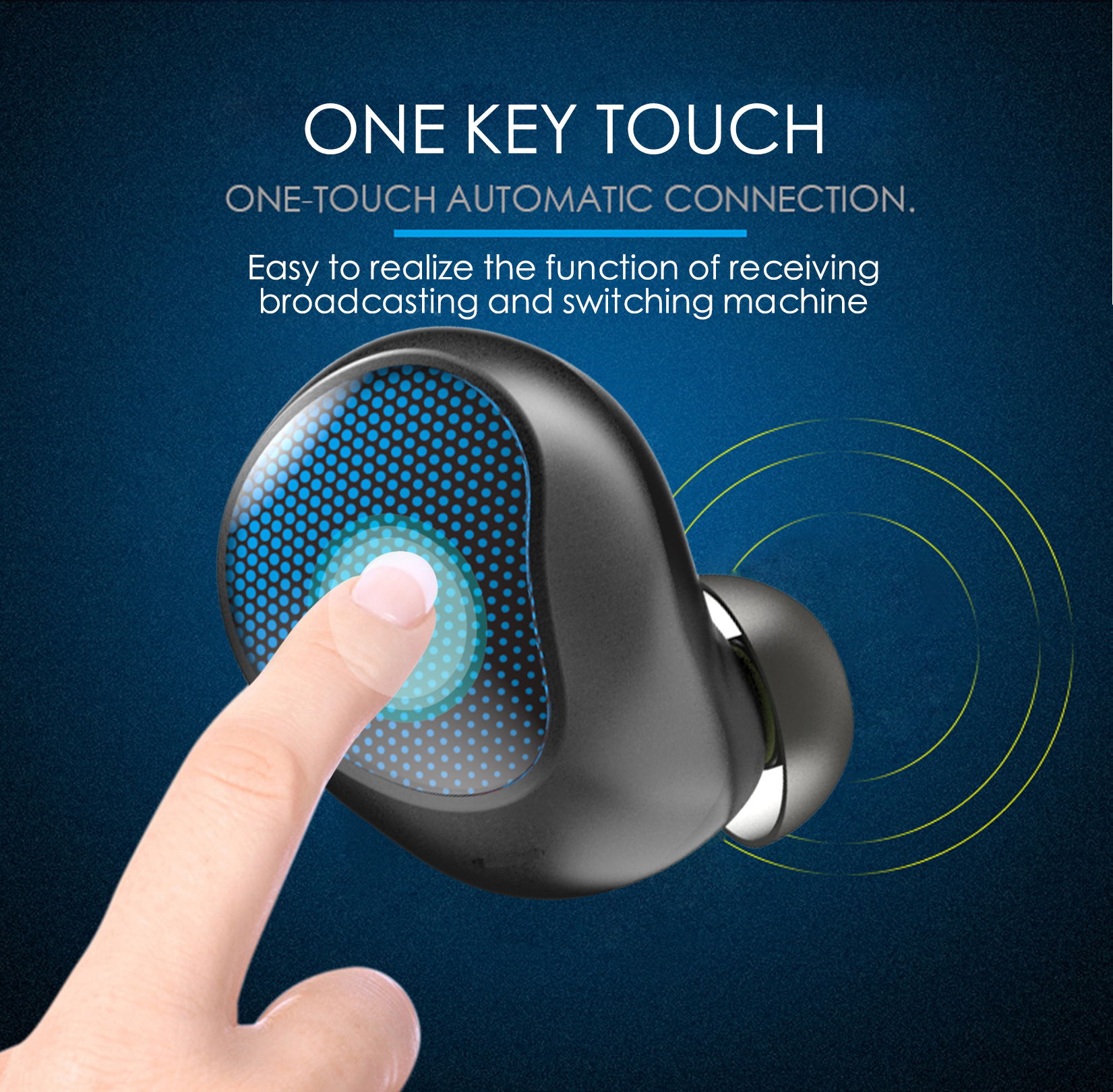 T10 business car headset 4.2 charging bin Blue tooth headset touch mini wireless small headphones  for iphone