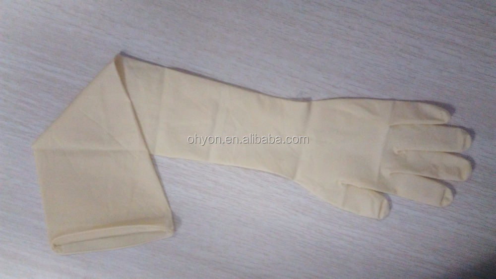 gynecological latex gloves 600mm latex gloves 24 inch exam gloves super long cuff