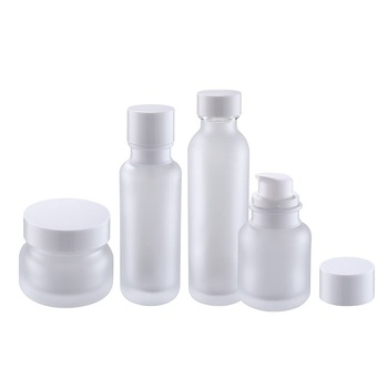 50/100/120/150ml clear round glass lotion containers thick base/bottom cosmetic box plastic screw cover custom packaging