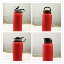 Modern Design Wide Mouth SS Water Bottle Perfect for Outdoor Sports Camping, Fits to Different Caps