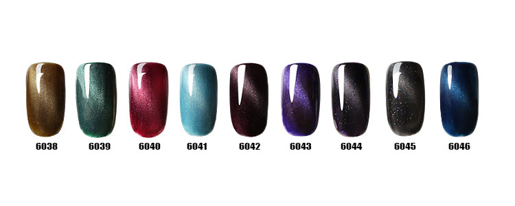 NEW arrival OEM cat eye's gel fashionable glitter color nail gel polish( create your own brand)