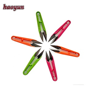 Factory sales plastic handle clip stainless steel scissors and shears for leather industry