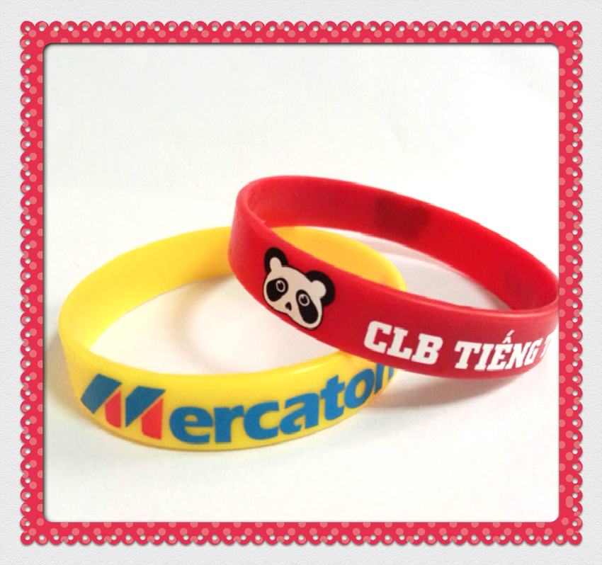 cute screen print silicon wristbands hand bands fashion silicone bracelet charms for children