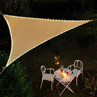 "Patented Starry Sky Solar Light System Sail Shade 33 ft Long 100 PCS LED Lights String 12""*12""*12"" Triangle Sun shade Sail"