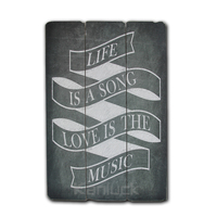 Life motto Wood Art Craft for Wall Decoration