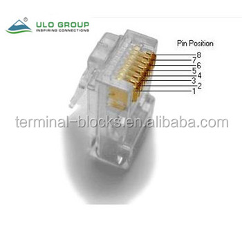 Rj11 Rj45 8p8c 6p4c 6p6c 10p10c Connector Rj11 Rj45 Plug In Connector Pcb  Jack Modular Jack - Buy Rj45 Plug,Rj11 To Db25 Modular Adapter,Snowflake