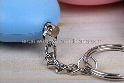 Hot Egg shape personal safety alarm self defense alarm with keychain for child ladies elderly night workers