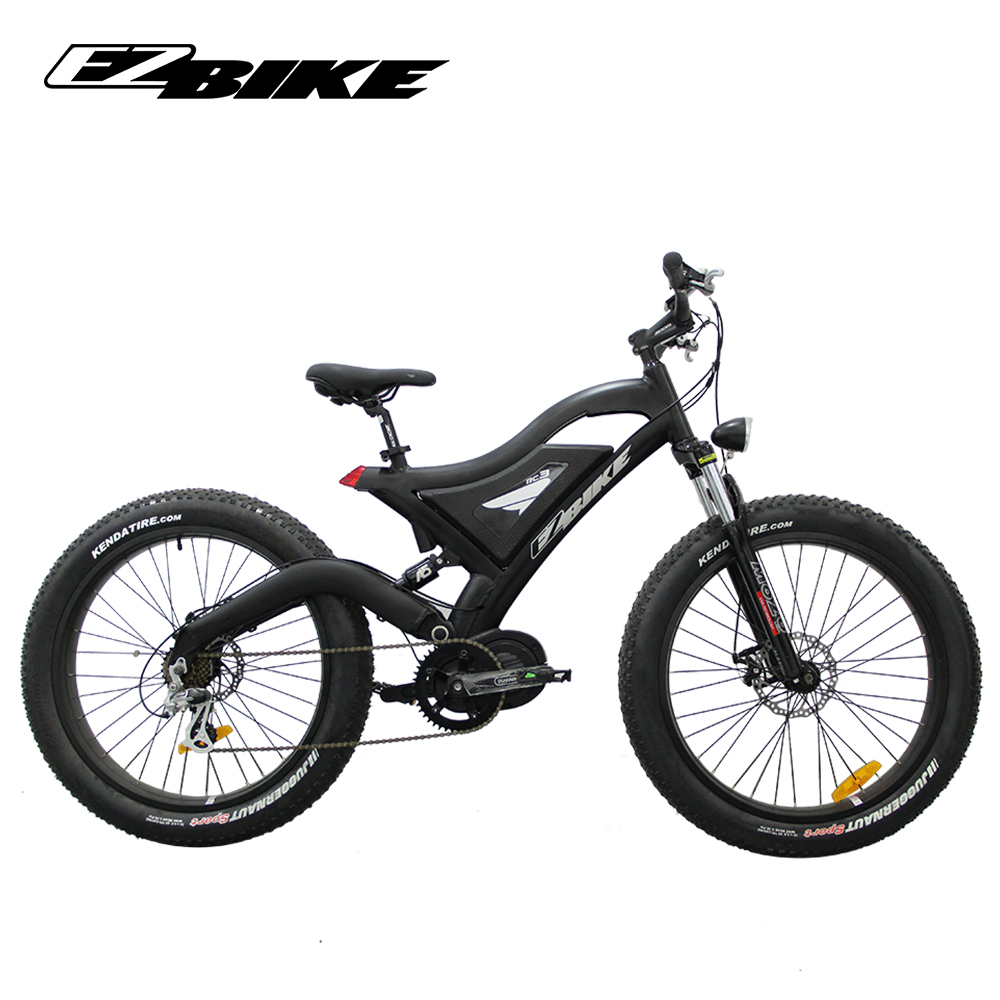 wholesale fast 48v 1000w mid drive electric beach cruiser bicycle with fat tire, Customized