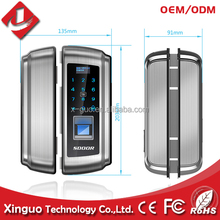 Simple operation anti-high voltage remote control intelligence digital touch screen fingerprint glass door lock