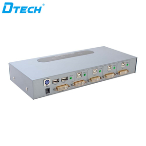 Hot Selling Product 4K Keyboard And Mouse USB Push Button DVI Automatic 4 dvi input one dvi output 4*1 KVM switch
