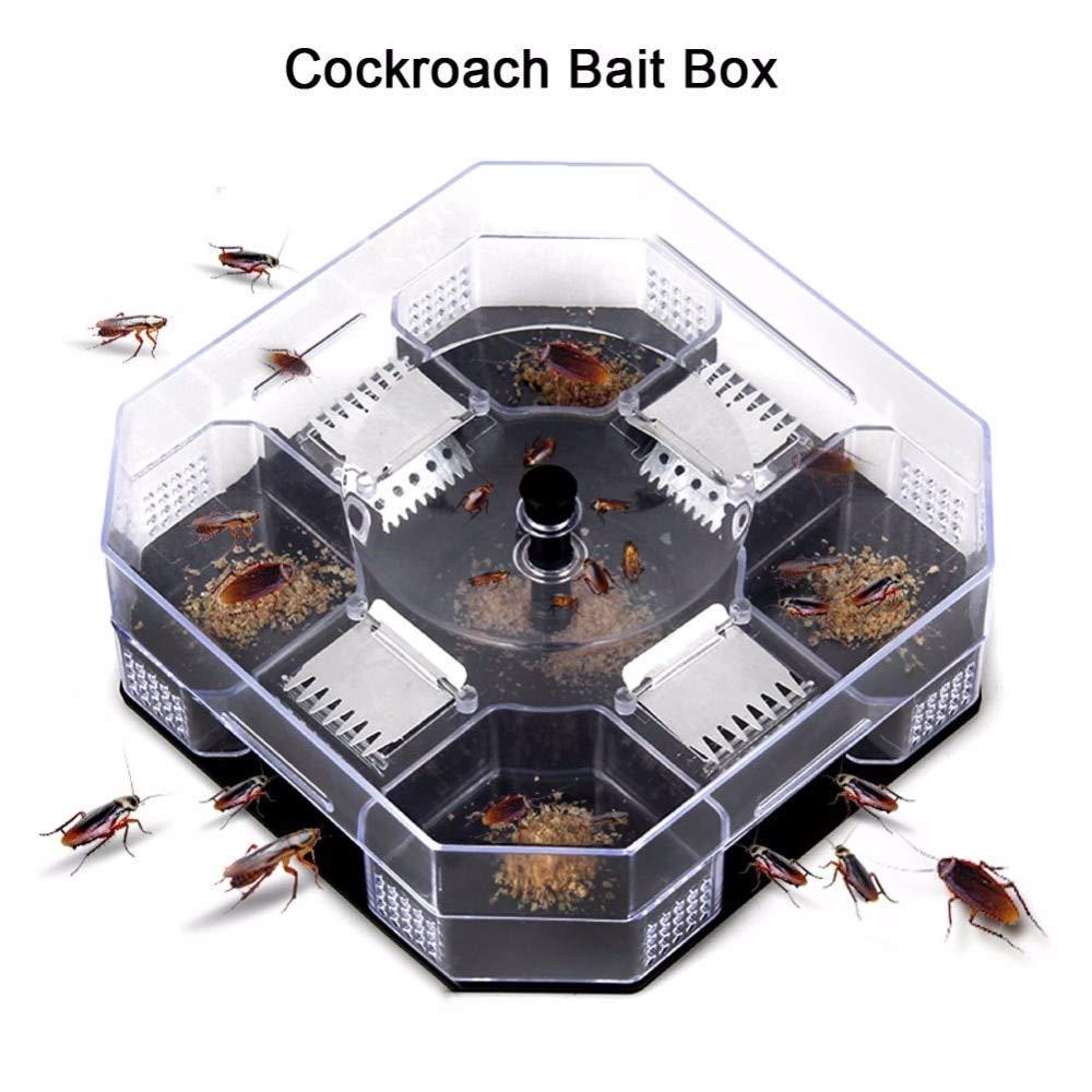 Cockroach Catcher Reusable Plastic Non-Toxic eco Blue Cockroach Bug Motel Catcher Catch Insect pest Killer Bait Trap