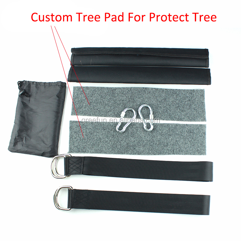 Hammock Tree Swing Seat Straps With Tree Protectors And Protective Sleeves  Outdoor Swing Hangers 100% Non-Stretch (5ft)