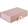 customize pink book style gift box with ribbon
