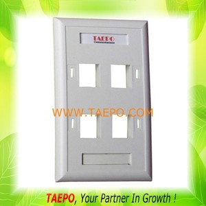 70mm AP style 120 type network rj45 faceplate 6 port