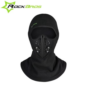 ROCKBROS Winter Thermal Anti Dust Cycling Headgear Cloth Soft Neck Lycra Bike Ski Scarves Hat Windproof Sports Full Face Mask