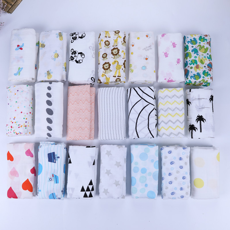 Alibaba 2018 hot selling two layers fashion printing baby blanket organic cotton muslin baby swaddle blanket