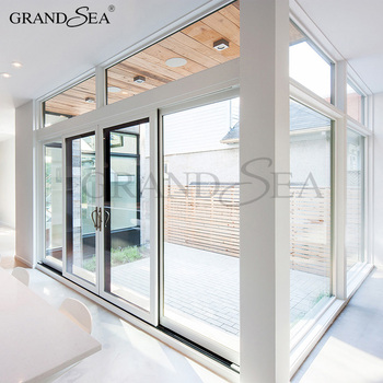 Standard Size Insulated Roller Shutter 4 Panel Sliding Glass Door