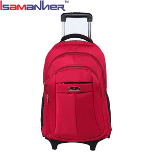 College student trolley laptop bag women, waterproof briefcase rolling laptop bag
