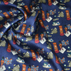 print elastic satin silk fabric stretch satin silk fabric