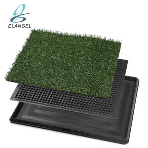 Amazon Hot Sale Pet Indoor Toilet Dog/Cat Potty Patch Pet Training Potty Patch Pads Pet Toilet Mat Grass Turf Potty 20*25""