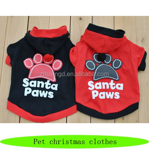 Santa paws christmas pet sweatshirt, christmas dog sweater, heated dog sweater