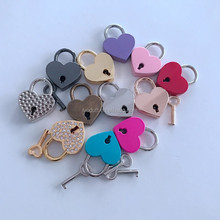 Pink Love Heart Lock For Wedding Gift, metal padlock heart shape