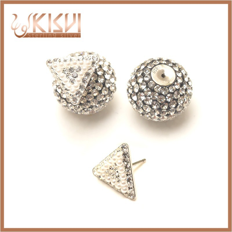 925 sterling silver jewelry triangle with shell pearl earrings kisvi