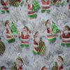 100% organza Sew Quilting Fabric Christmas Holiday Santa Clause