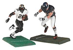 DEUCE MCALLISTER / NEW ORLEANS SAINTS & BRIAN URLACHER / CHICAGO BEARS * 3 INCH * McFarlane's NFL Sports Picks Series 1 Mini Figure 2-Pack