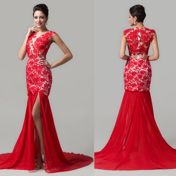 Элегантный красные платья