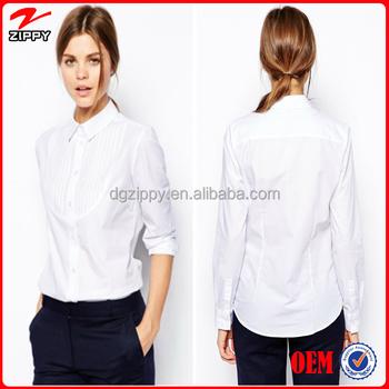 2016 New Arrival Women Clic White Shirt Las Office Wear Formal For