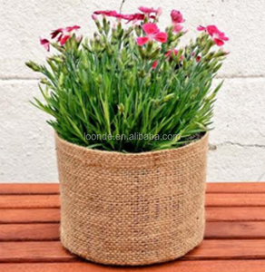 Eco friendly natural organic hemp bag gardening basket bag