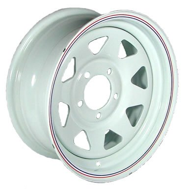 "13"" x 4.5"" White Spoke Trailer Wheel (5-4.5 Bolt Pattern)"