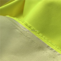 EN20471 flourescent yellow fabric Bonded PU membrane,two layers 100%polyester workwear fabric
